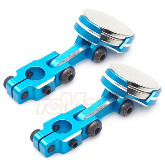 Aluminium CNC Magnetic Invisible Body Mounting System 2pcs Blue