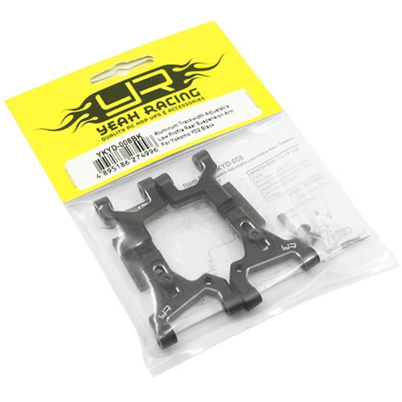 Aluminum Trackwidth Adjustable Low Profile Rear Suspension Arm For Yokomo YD2 YD2S Black