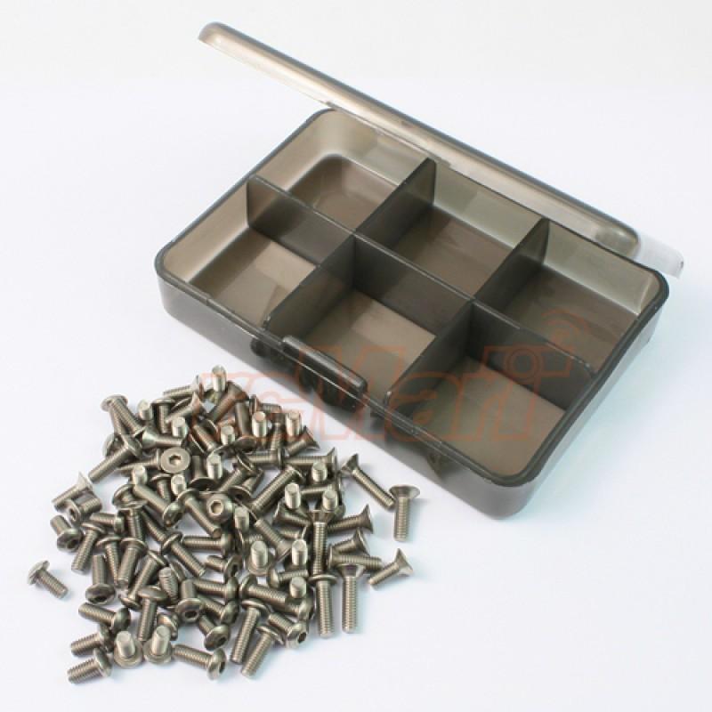 Titanium Screw Assorted Set with FREE Mini box for Tamiya M07