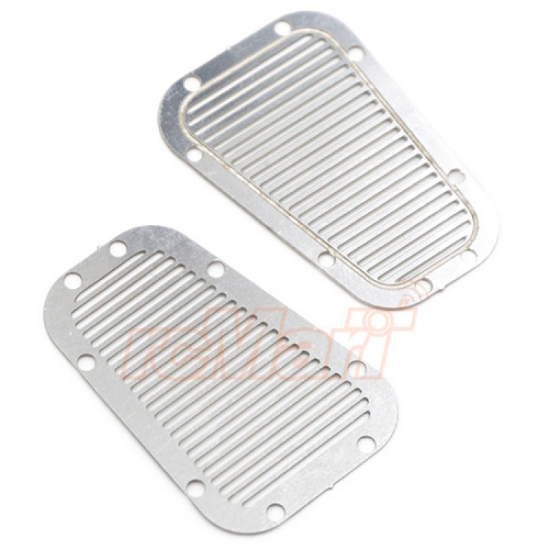 Stainless Steel Front Hood Vent Plate for Traxxas TRX-4