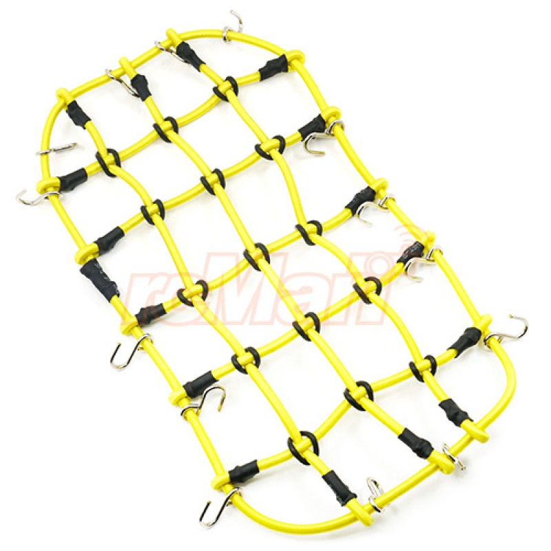 1/10 RC Crawler Scale Accessory Luggage Net 200mm x 110mm Yellow