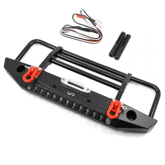 Aluminum Alloy Front Bumper w/LED Light For TRX-4/ SCX10 / II / HPI Venture / Gmade Bom