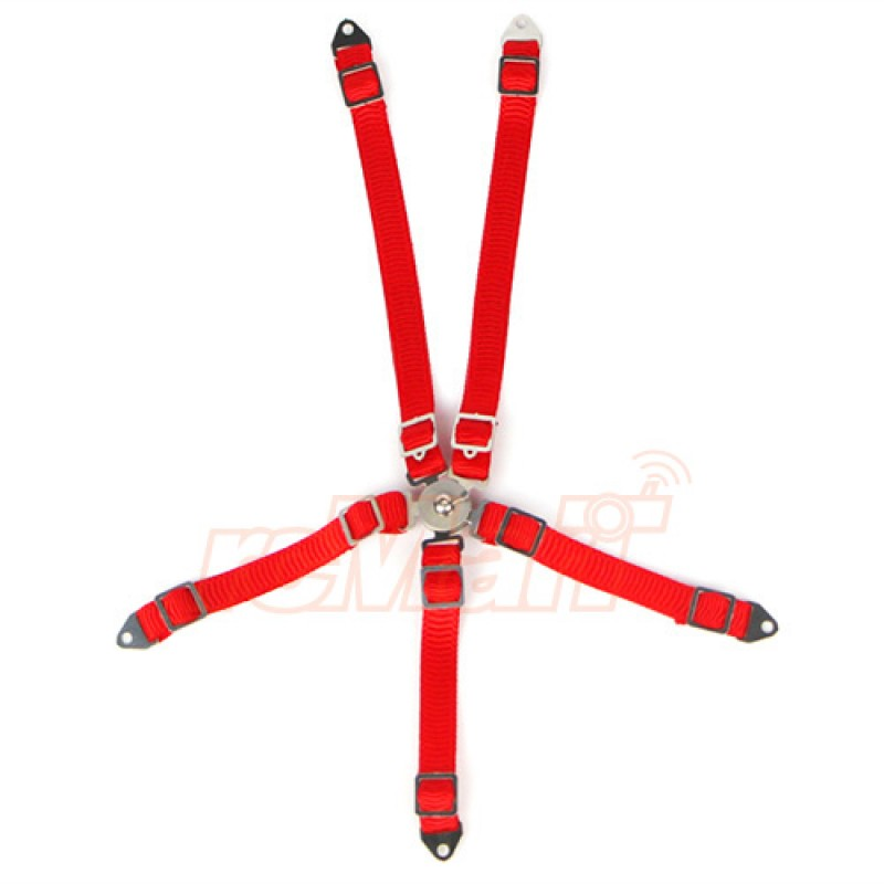 1/10 RC Scale Accessory Safety Belt Red