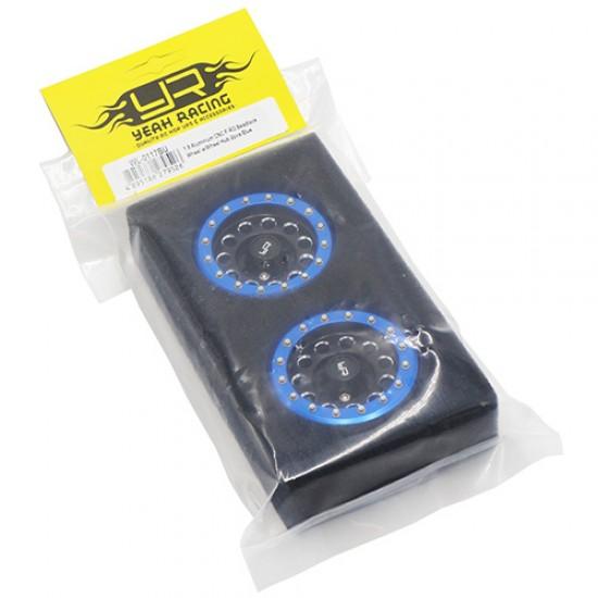 1.9 Aluminum CNC F-RG Beadlock Wheel w/Wheel Hub 2pcs Blue
