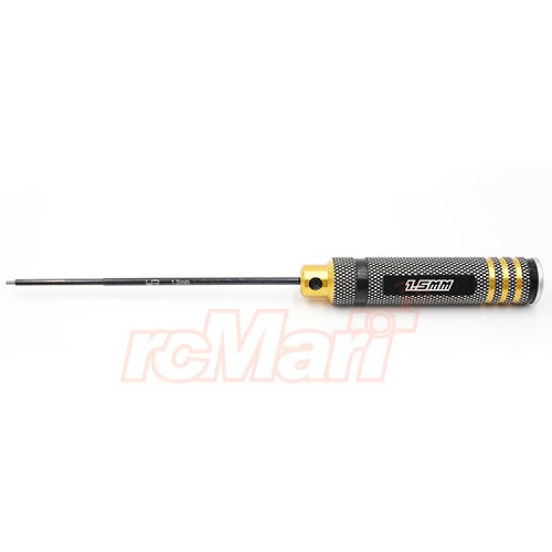 Aluminum 1.5mm Allen Hex Driver Tool Black Gold
