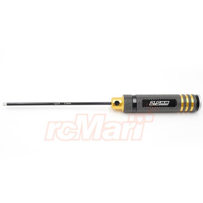 Aluminum 2.5mm Allen Hex Driver Tool Black Gold