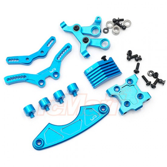 Aluminum Steering and Suspension Upgrade Conversion Kit For Tamiya M07 Blue  Clearance Sale