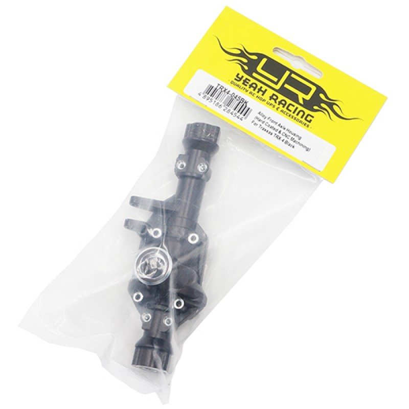 Alloy Front Axle Housing (Titanium Coated) For Traxxas TRX-4 Black