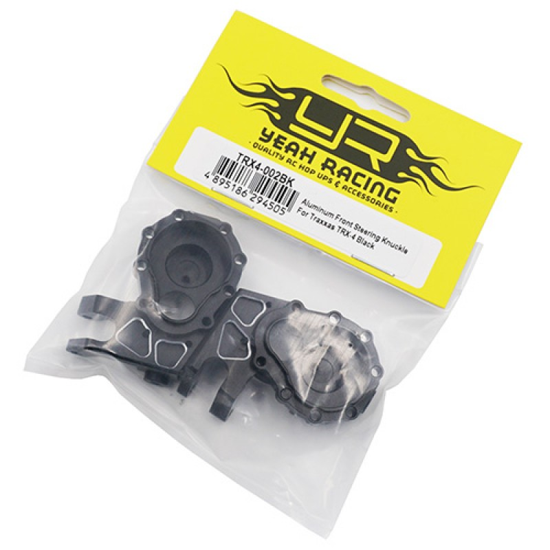 Aluminum Front Steering Knuckle For Traxxas TRX-4 TRX-6 Black
