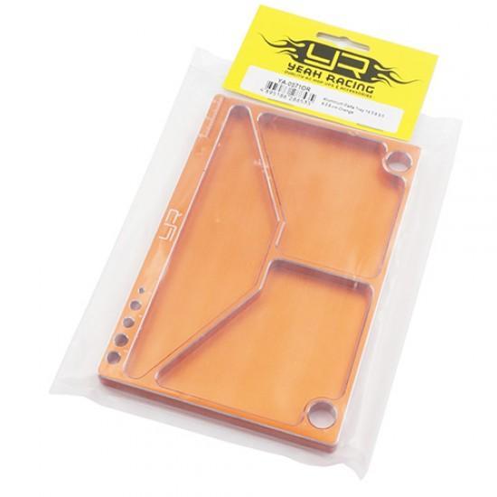 Aluminum Parts Tray 14.5 X 9.5 X 0.9 cm Orange