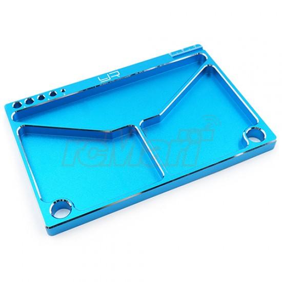 Aluminum Parts Tray 14.5 X 9.5 X 0.9 cm Blue