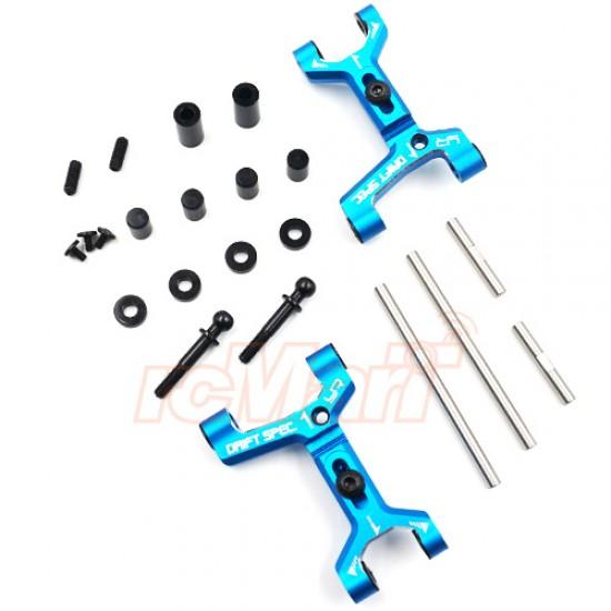 Aluminum Track Width Adjustable Rear Lower Suspension Arm for TATT-S03 (Tamiya TT02 RWD) Blue