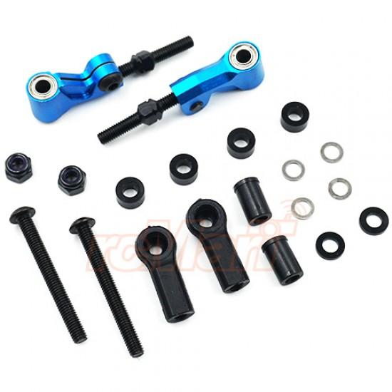 Aluminum Front or Rear Camberlink for TATT-S03 (Tamiya TT02 RWD) Blue