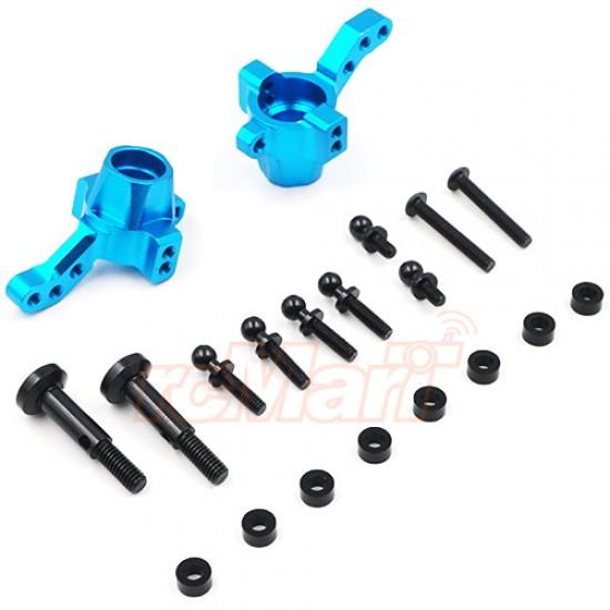 Aluminum Front Knuckle for TATT-S03 (Tamiya TT02 RWD) Blue