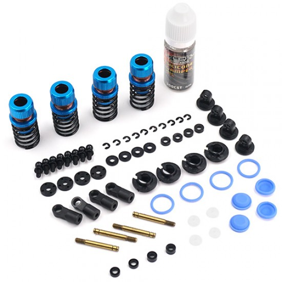 Drift Spec Shock-Gear 50mm Damper Set for 1/10 RC Car Blue