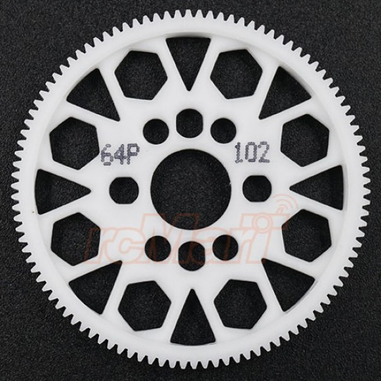 Competition Delrin Spur Gear 64P 102T For 1/10 On Road Touring Drift