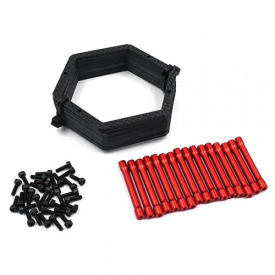 Carbon Graphite & Aluminum Spare Tire Carrier For 1/10 Touring Drift