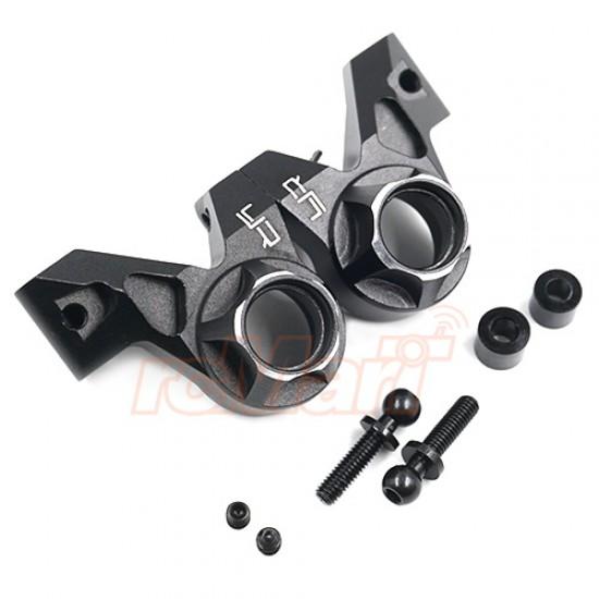 Aluminum 210mm 225mm Wheelbase Rear Hub 2 pcs Black For Tamiya M07