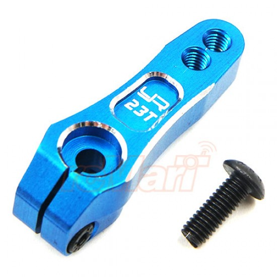 23T 7075 Aluminum Servo Arm Horn For Sanwa Ko-Propo Blue