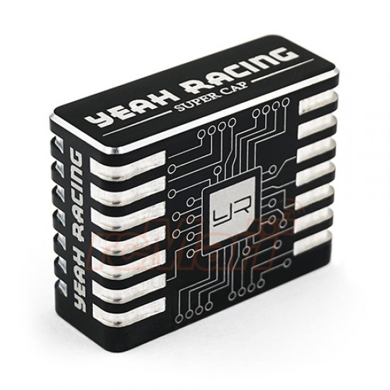 Aluminum Case Hyper Booster Capacitor For RC Car Black