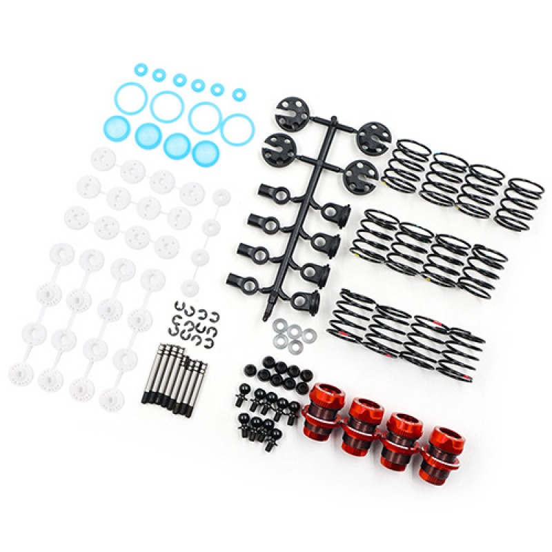 QUTUS Challenger 50mm Damper Set for 1/10 RC Touring M-Chassis Car Red