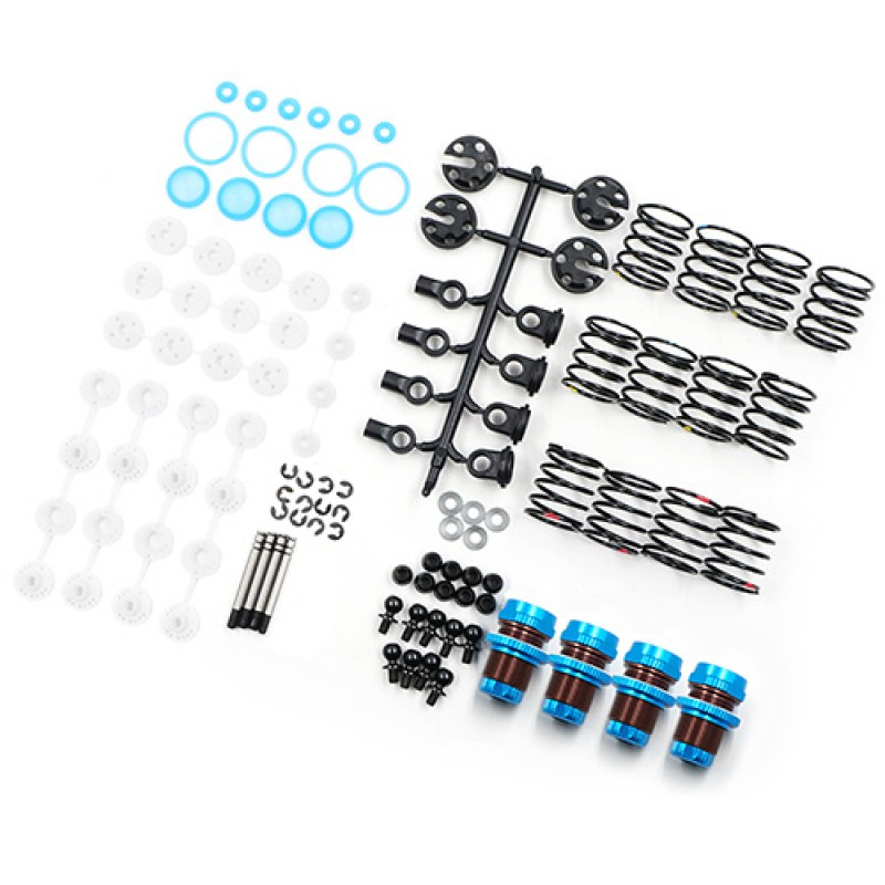QUTUS Challenger 55mm Damper Set for 1/10 RC Touring M-Chassis Car Blue