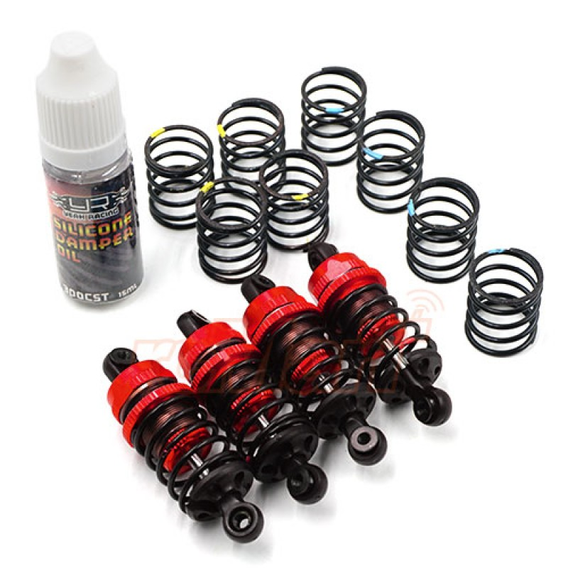QUTUS Challenger 55mm Damper Set for 1/10 RC Touring M-Chassis Car Red