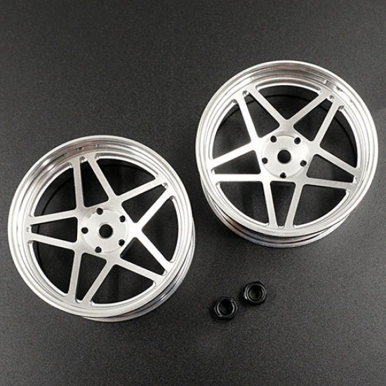 Spec D Plus Aluminum 7075 5 Spoke +6 Offset Drift Rim 2pcs