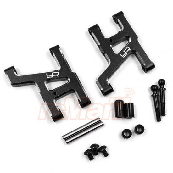 Aluminum Front Suspension Arm Set For Tamiya WR02CB Black