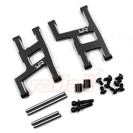 Aluminum Rear Suspension Arm Set For Tamiya WR02CB Black
