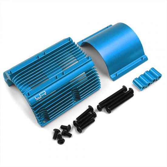 Aluminum Heat Sink for 1:8 Motors Blue