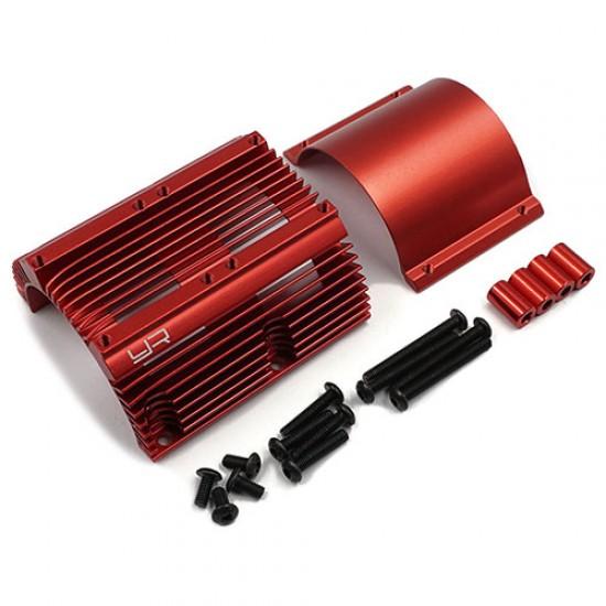 Aluminum Heat Sink for 1:8 Motors Red