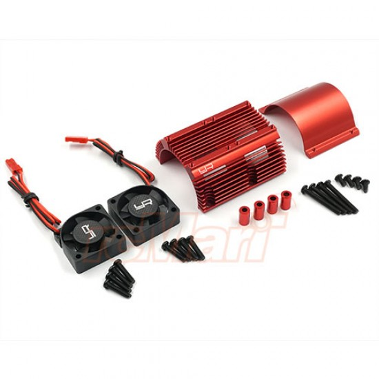 Heat Sink with Twin Tornado High Speed Fans sets for 1:8 Motors