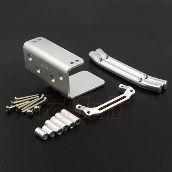 Aluminum Skid Front Bumper For Tamiya Wild Willy 2 WR02/CB GF01 Silver