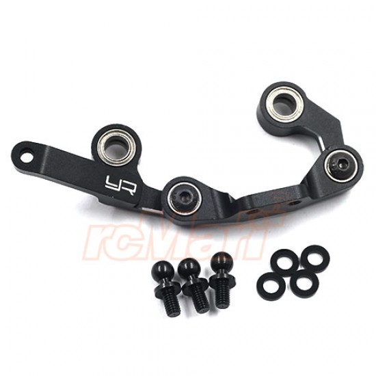 Aluminum 7075 Ball Bearing Steering Set For Tamiya M08 Black