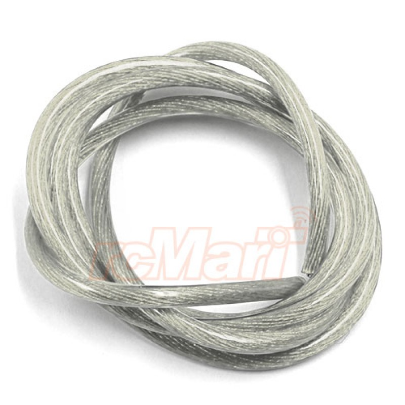 12AWG Transparent Wire 1m Silver