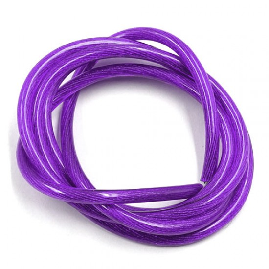 12AWG Transparent Wire 1m Purple