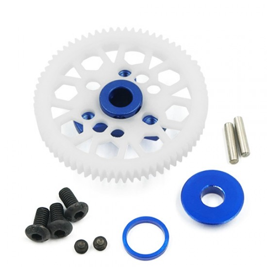 Aluminum Spur Gear Adapter Blue For Traxxas Ford GT 4 Tec 2.0