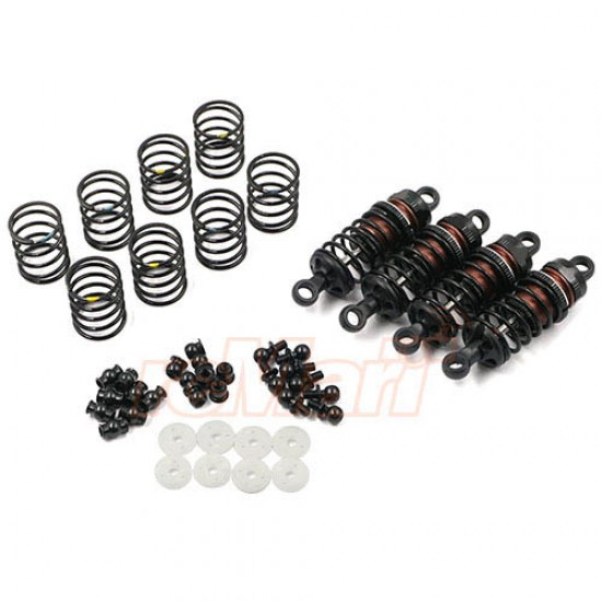 Aluminum Big Bore Go 55mm Damper Set 4pcs for 1/10 RC Touring Car Black