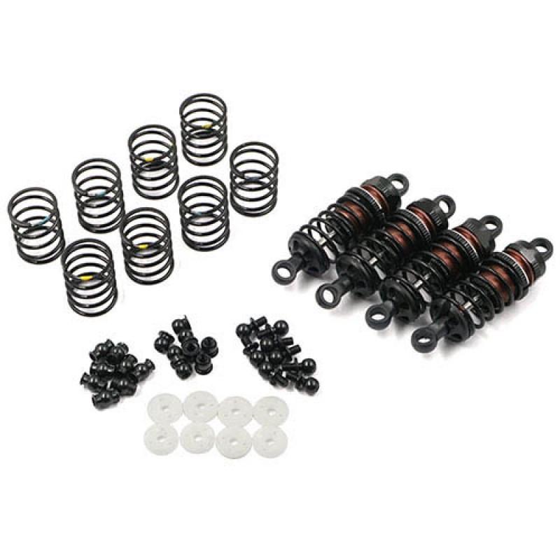 Aluminum Big Bore Go 55mm Damper Set 4pcs for 1/10 RC Touring Car Black