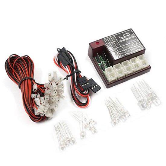 2 Channel Programmable LED Lighting System For 1/10 RC Car