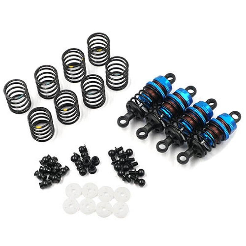 Aluminum Big Bore Go 50mm Damper Set 4pcs for 1/10 RC Touring Car Blue