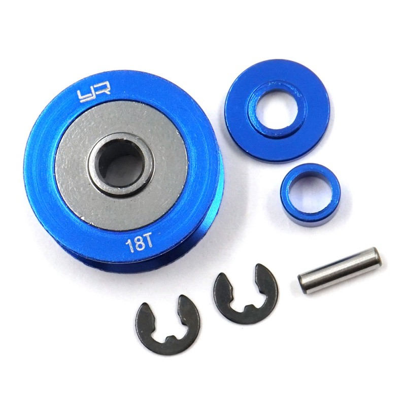 Aluminum 18T Pulley For Tamiya TA06 XV-01 PRO TC