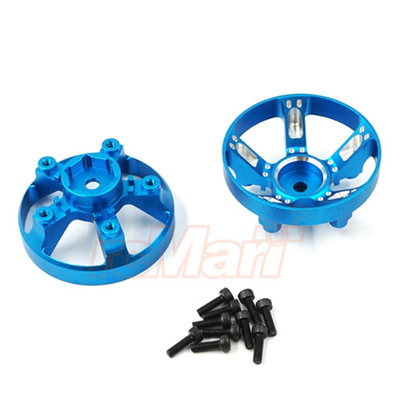 Aluminum Wheel Cap Cover For Tamiya WR-02CB Blue