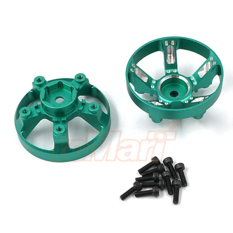 Aluminum Wheel Cap Cover For Tamiya WR-02CB Green