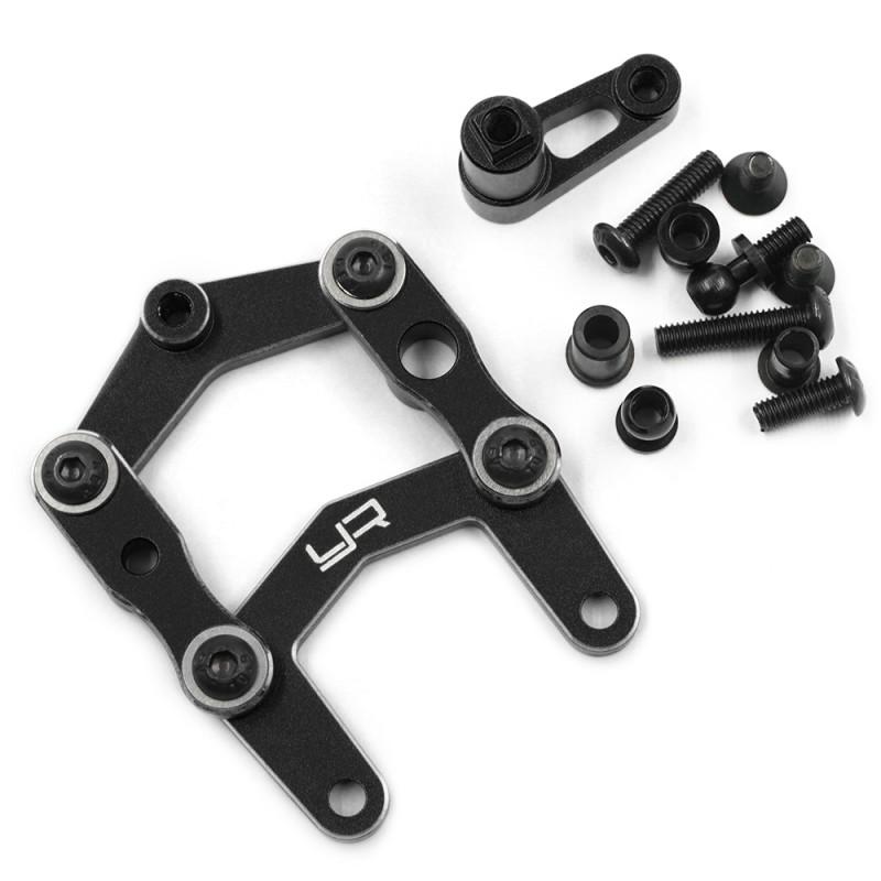 Aluminum Steering Set for Tamiya SW-01 Black