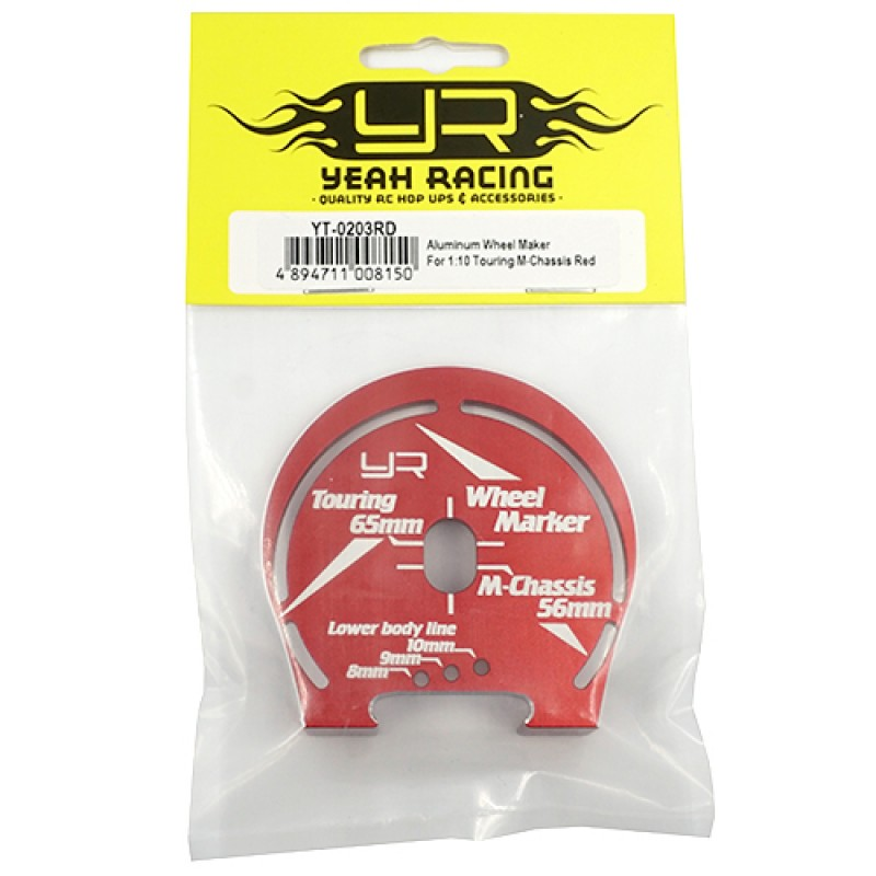Aluminum Wheel Well Marker For 1:10 Touring M-Chassis Red