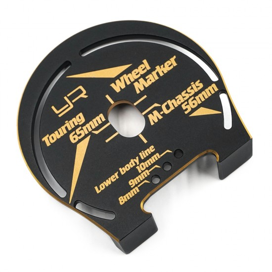 Aluminum Wheel Marker For 1:10 Touring M-Chassis Black Gold