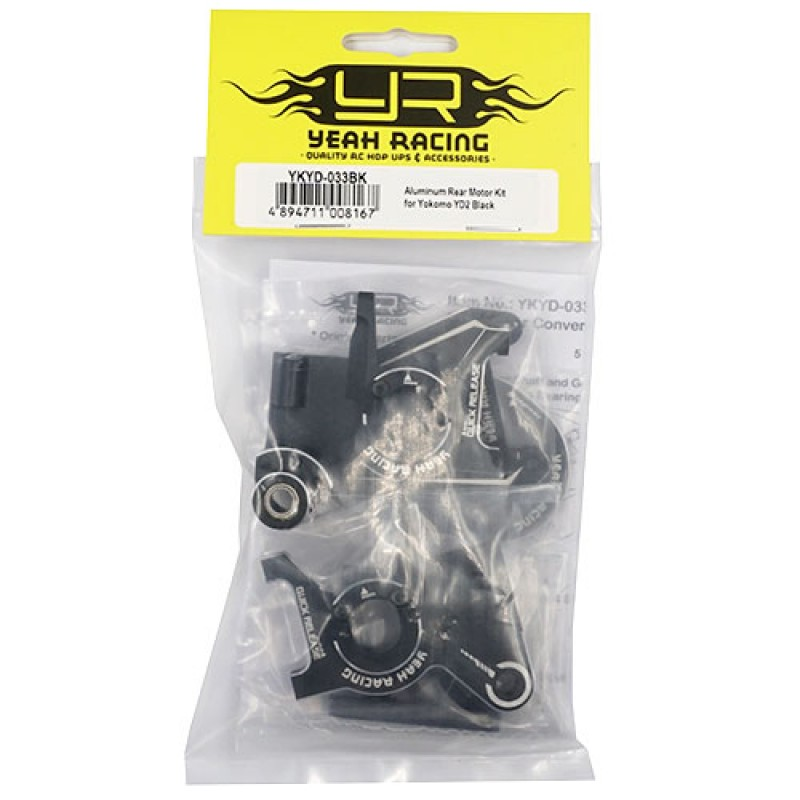 Aluminum Rear Motor Kit for Yokomo YD-2/YD-2E/YD-2S Black