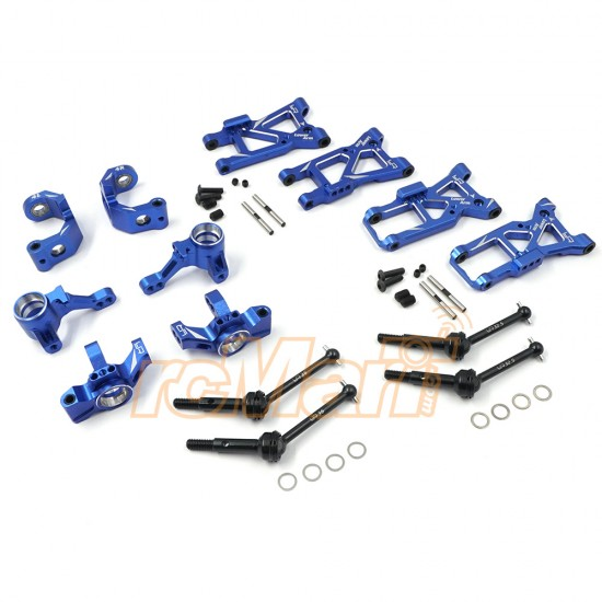 Aluminum Essential Conversion Kit For Traxxas Ford GT 4 Tec 2.0 Blue